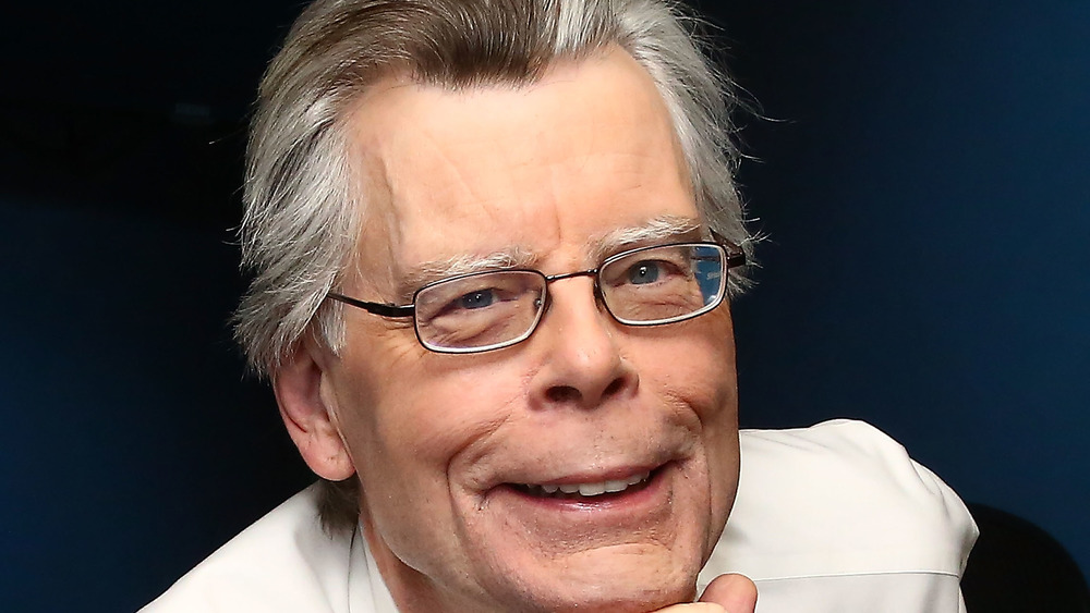 Author Stephen King smiling