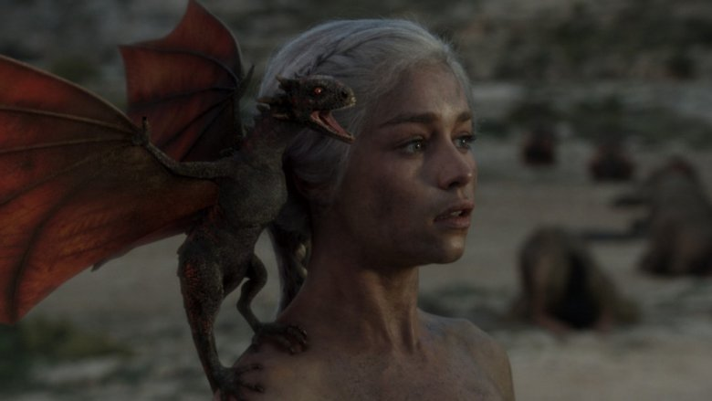 Daenerys at the temple of the Dosh Khaleen