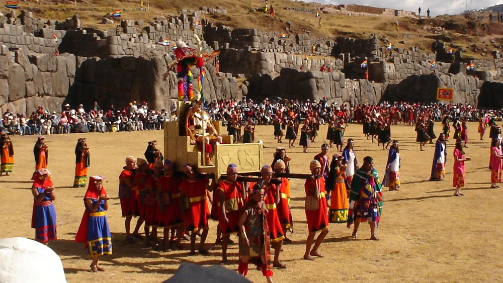 Inti Raymi (Festival of the Sun) at the Fortress of Sacsayhuaman in Cusco, Peru