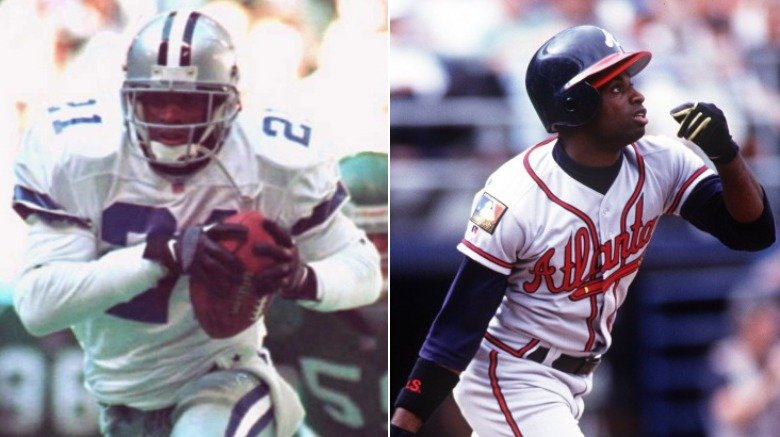 Deion Sanders Baseball and Football