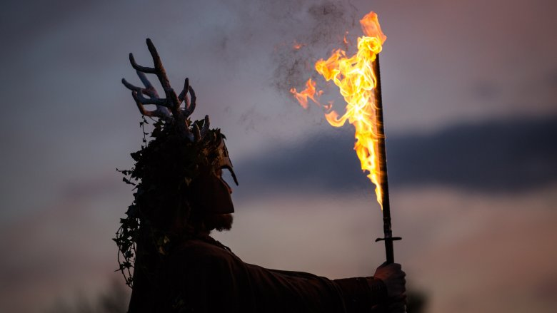 Samhain, flaming sword