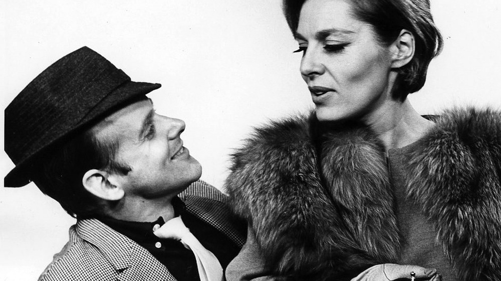 Publicity photo of Bob Fosse and Viveca Lindfors looking at each other