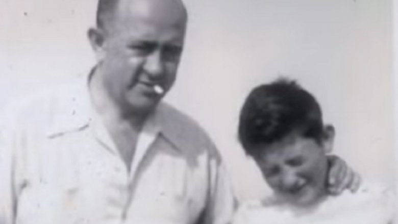 Young Bernie Sanders with his father