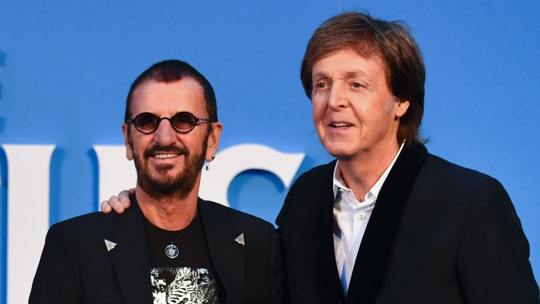 Ringo Starr and Paul McCartney of the Beatles