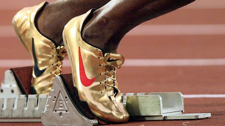 Michael Johnson gold track shoes 1996 Olympics