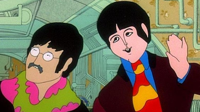 Paul McCartney and John Lennon in Yellow Submarine