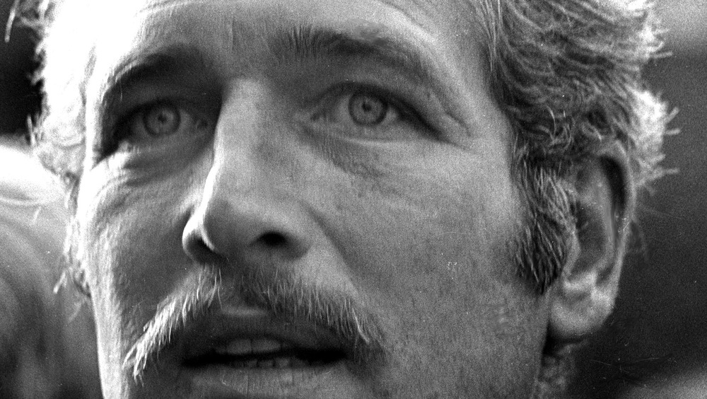 Paul Newman with a mustache