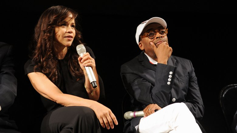 Rosie Perez and Spike Lee