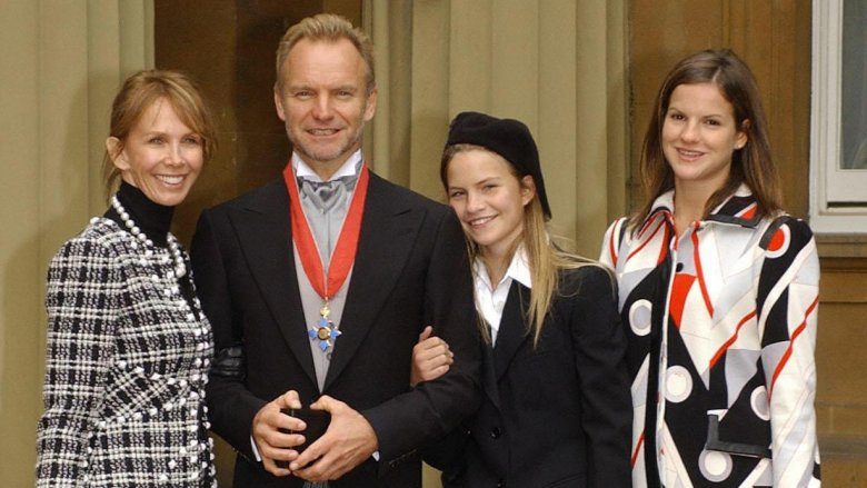 Sting with his wife and daughters