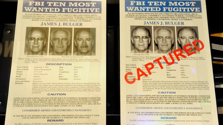 whitey bulger wanted posters