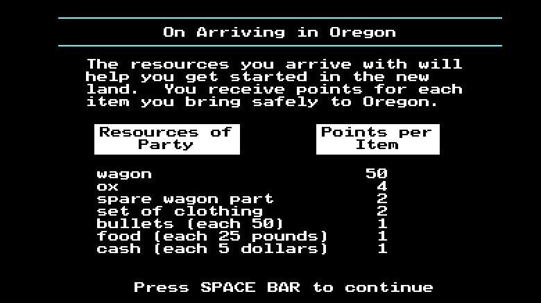 parts of the oregon trail game only grown ups see
