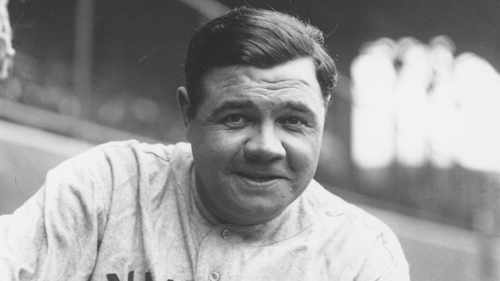 Babe Ruth smiling