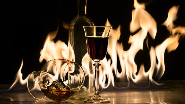 alcohol fire
