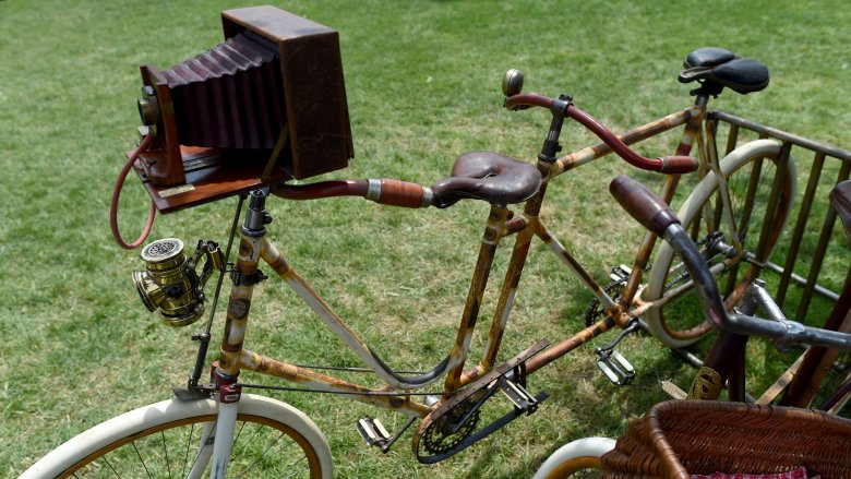 old bicycle camera