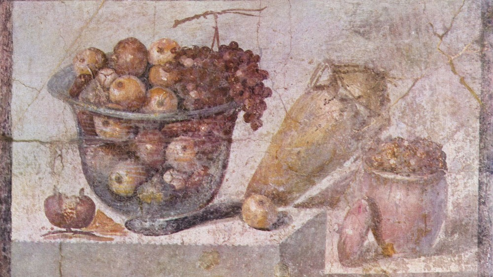 still life fresco in pompeii