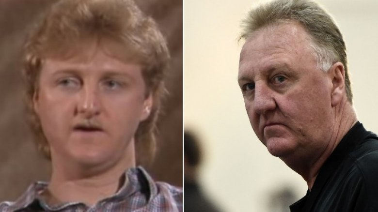 Larry Bird then now